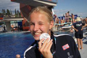 Historiens første jente/kvinne medalje i et Europamesterskap