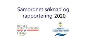 Samordnet søknad og rapportering - april 2020